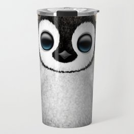 Cute Baby Penguin Dj Wearing Headphones Travel Mug