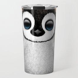 Cute Baby Penguin Dj Wearing Headphones Travel Mug