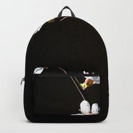 Branch Of Elegant Japanese Apricot Flowers On Black Backpack