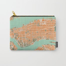 New York city map orange Carry-All Pouch