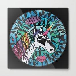 Unicorn - Paper cut design  Metal Print
