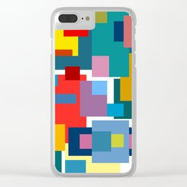 Color Blocks #4 Clear iPhone Case