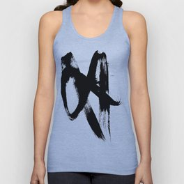 Brushstroke 2 - simple black and white Unisex Tanktop