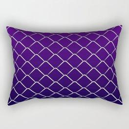 Dark Purple Night Chain Link Rectangular Pillow