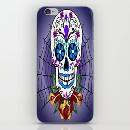 Rose, the Day of the Dead Skull  iPhone Skin
