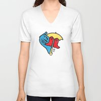 himym V-neck T-shirts featuring Hey Beautiful by Reg Lapid