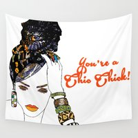 tote bag Wall Tapestries featuring raven tote by pardon my fro