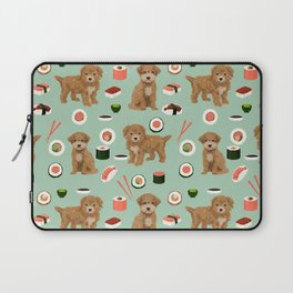 Bichpoo sushi dog breed cute pet portrait pet friendly pattern dog lover gifts Laptop Sleeve