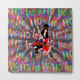Psychedelic Rock Christmas Metal Print