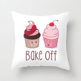 Bake Off Cupcake Wars Throw Pillow