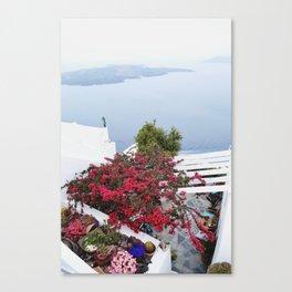 Santorini views Canvas Print