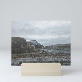 A Snowy Arthur's Seat Mini Art Print