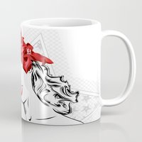 pinup Mugs featuring Pinup Girl  by dedend graphic design studio