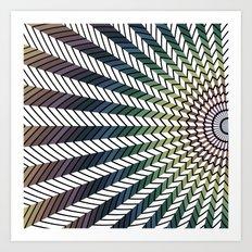 Low Peaks Art Print