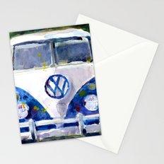 Car Van Watercolor Original Art Stationery Cards