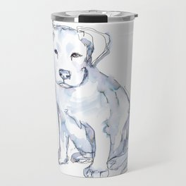 Pit Bull Puppy (for Kerry), watercolor Travel Mug
