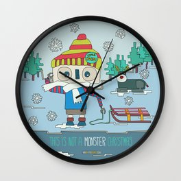 This is not a Monster Christmas Wall Clock