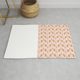 Corgi pastel blush pink cute welsh corgi dog portrait pattern corgi lovers must have dog gifts  Rug