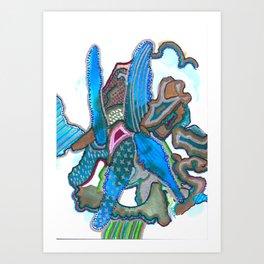 Blue Orchid Carnival Art Print