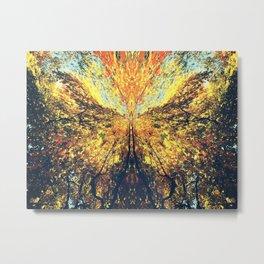 Fall Butterfly Metal Print
