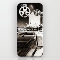 theater iPhone & iPod Skins featuring Turnage Theater by Justin Alan Casey