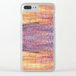 Webbed Sunset Clear iPhone Case