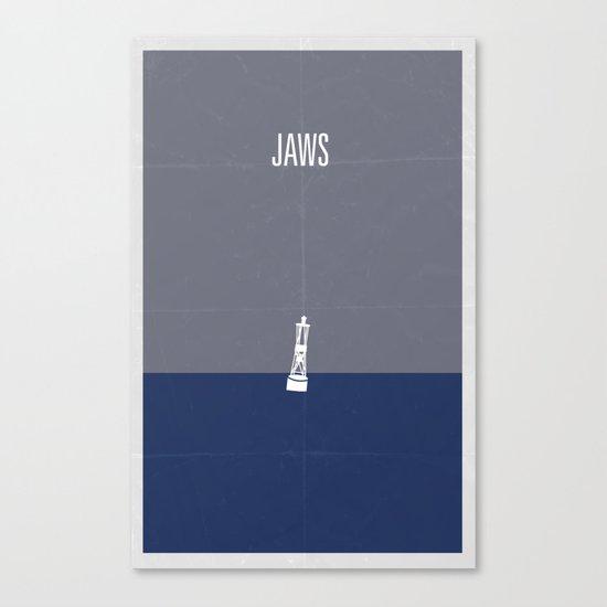 Jaws minimalist poster Canvas Print