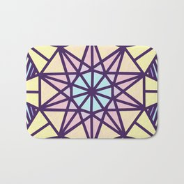 Stained Glass Sunrise Bath Mat