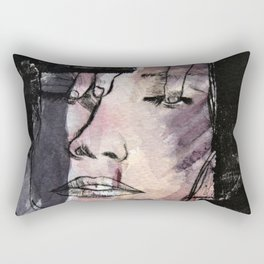 Skinny thoughts Watercolor Rectangular Pillow
