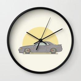 Nissan Skyline R32 Vector Illustration Wall Clock