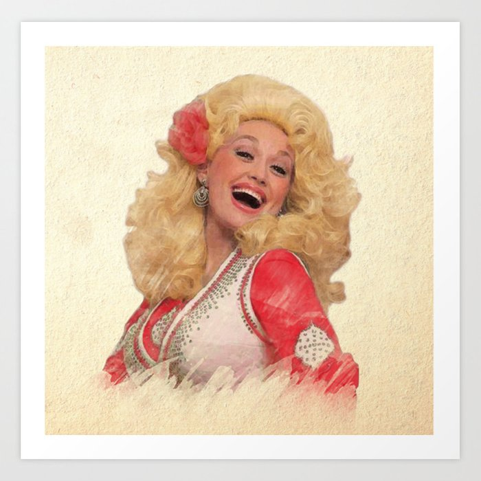 Dolly Parton - Watercolor Art Print