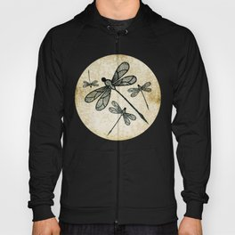 Dragonflies on tan texture Hoody