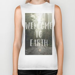 WELCOME TO EARTH Biker Tank