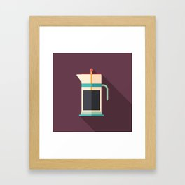 French Press Coffee Framed Art Print
