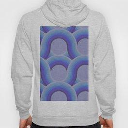 Rollin' Retro Road in Blue Ombre Textured Hoody