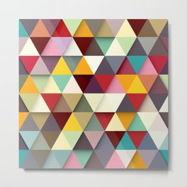 Color Triangle 3 Metal Print
