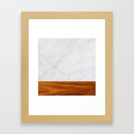 Marble and Wood 2 Framed Art Print