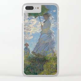 Claude Monet - Woman With A Parasol Clear iPhone Case
