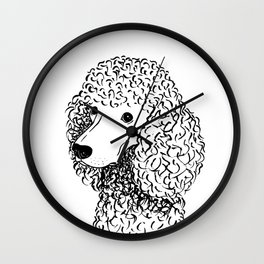 Poodle (Black and White) Wall Clock