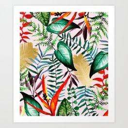 Paradise Dreams #tropical #illustration Art Print