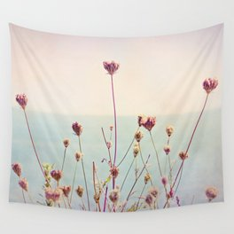 Beach Flowers Wall Tapestry