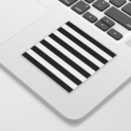 Stripe Black And White Horizontal Line Bold Minimalism Sticker