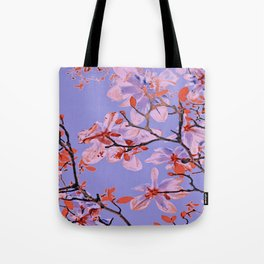 Copper Flowers on violett ground Tote Bag