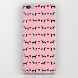 Great Dane harlequin coat dog breed gifts pet patterns for pure breed lovers love hearts iPhone Skin
