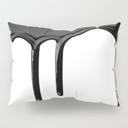 Black paint drip Pillow Sham
