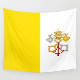 Flag of vatican city Wall Tapestry