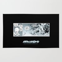 fight Area & Throw Rugs featuring Fight! by From Nothing