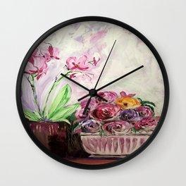 spring buquet Wall Clock