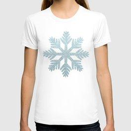 Blue Glitter Snowflake T-shirt