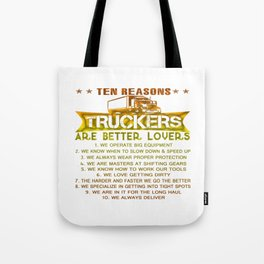 Ten REASONS - TRUCKERS Tote Bag